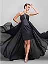 Linia -A Halter Asimetric Georget Seară Formală Bal Militar Rochie cu Detalii Cristal Ruching de TS Couture®