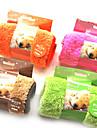 Pure Color Soft Fleece Friska Clean Sova Pad Mat för husdjur Hundar (blandade färger)