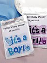 Personalized Tea Bag for Baby Shower - Set of 12 (More Colors)