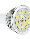 5W GU10 Spot LED 15 SMD 5730 100-550 lm Blanc Chaud Gradable AC 100-240 V