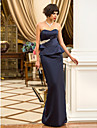 TS Couture® Formal Evening / Military Ball Dress - Open Back Plus Size / Petite Sheath / Column Sweetheart Floor-length Satin withCrystal Detailing /