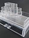 Sminkförvaring Makeup-låda / Sminkförvaring Plast / Akrylfiber Enfärgat Kvadrat 18.5 x 11.5 x 11.6 Bisque