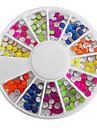 Mixte de couleur de sucrerie fluorescente ronde Nail Art Decorations