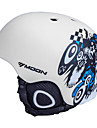 MOON Cykling Vitt och svart PVC / EPS Ljus Ski / Snowboard Hjälm