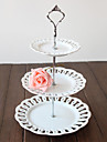 Table Centerpieces White Metal 3 Tier Cupcake Stand  Table Deocrations