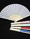 Solid de culoare Raw Silk Hand Fan (Mai multe culori)