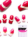 96PCS Blandade Mönster French Manicure Tip Guides