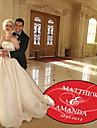 Hochzeit Dekor personalisiert umarmt Herzen Tanzflaeche Aufkleber (weitere Farben)