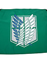 Mer accessoarer Inspirerad av Attack on Titan Cosplay Animé Cosplay Accessoarer Flagga Grön Polyester Man