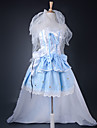 Inspire par Macross Frontier Sheryl Nome Anime Costumes de cosplay Costumes Cosplay / Robes Mosaique Bleu Robe / Bandeau / Bracelets