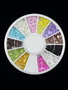12-Färg Transparent Bow Nail Art arcylic Dekorationer