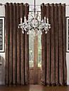 Två paneler Modern Solid Enligt bilden Living Room Polyester Panelgardiner draperier
