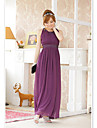 JK2 Kvinder rund hals Purple Long Dress