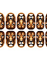 12PCS Lion Mönster Luminous Nail Art Stickers