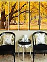 Toiles d\'art Paysage d\'automne Foret Set de 5