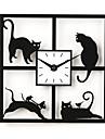 "12""H Four Naughty Cat Acrylic Wall Clock"