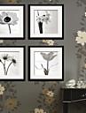 A fleurs/Botanique Toile Encadree / Set de Cadres Wall Art,PVC Noir Passepartout inclus Avec Cadre Wall Art