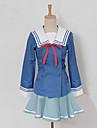 Inspirerad av Utanför gränsen Mitsuki Nase Animé Cosplay Kostymer/Dräkter cosplay Suits Lappverk Blå Topp / Kjol / Bow