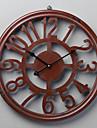 "18 ""H Retro Wood Red Arabic Numbers Väggklocka"