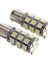 2 buc BAY15D 1156 27 SMD 5050 LED-uri auto din spate stop de frână de semnalizare lumină alb 12V