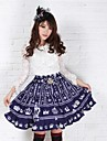 Blå Pretty Lolita Fairy Royal Crown Princess Kawaii Skirt Lovely Cosplay