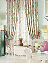 Country Two Panels Floral  Botanical  Bedroom Polyester Panel Curtains Drapes