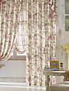 land två paneler blom- botaniska sovrum polyester panelgardiner draperier