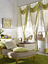 Country Two Panels Floral  Botanical Green Bedroom Curtains Drapes