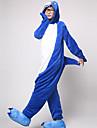 Kigurumi Pyjamas Shark Leotard/Onesie Halloween Animal Sovplagg Vit / Bläck blå Lappverk Korallfleece Kigurumi Unisex Halloween