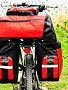FJQXZ Rear Pannier Bike Bag 70L Large Capacity Waterproof Red 600D Polyester  Bike/Bicycle Bag