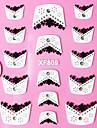 Motif 3D floraison paille strass Dentelle francaise Nail Art Stickers XF