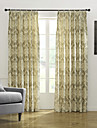 Country Two Panels Floral  Botanical  Bedroom Poly  Cotton Blend Panel Curtains Drapes