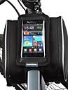 Sac de Velo 1.8LSac de cadre de velo / Sac de telephone portable Resistant a la poussiere / Ecran tactile Sac de CyclismeCuir PU /
