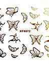 3D-fjäril Design stämpling Nail Art Stickers XF-serien
