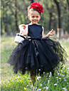 Flower Girl Dress - Palloncino Lunghezza te Senza Maniche Raso/Tulle