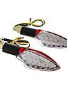 Etanches Clignotants 15 LED DIY lumiere jaune pour Moto-Rouge (DC12-16V 2W 2-pieces)