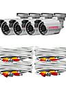 KARE 4 * CCTV 24 lysdioder Outdoor & Indoor SONY CCD Säkerhet och övervakningskameror