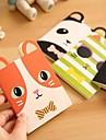 coolt djur mönster mjuk pärm anteckningsbok (slumpmässig färg)