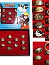Smycken Inspirerad av Naruto Cosplay Animé Cosplay Accessoarer Ring Guld Legering Man