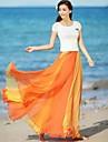 Femei Multicolor Flare șifon fusta