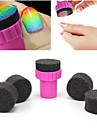 Strumenti 1PCS Manicure Sponge Nail Art Stamper con 5PCS Spugna chiodo a gradiente di colore Nail Art