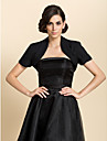 Wedding  Wraps Coats/Jackets Short Sleeve Chiffon Black Wedding / Party/Evening Open Front