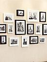 Black White Photo Frame Collection Set of 15