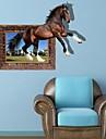 3D Hästen Wall Stickers väggdekaler