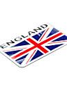 8 * 5.1cm England Flag Mønster English Emblem Aluminum Car DIY Decal Sticker