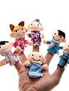 Föräldrar-barn Plush Figure Finger Puppets