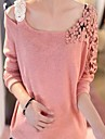 Sweet Spring Soft Knit T-shirt Lace Vrouwen