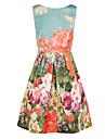 Impresiones florales del vestido de las mujeres elegantes Unbrella