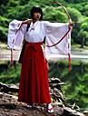 Inspirat de InuYasha Kikyo Anime Costume Cosplay Costume Cosplay Kimono 纯色 Manșon Lung Vârf Pantaloni Pentru Feminin