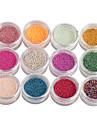 12-Color petit clou perles de boule de Nail Art decoraitons